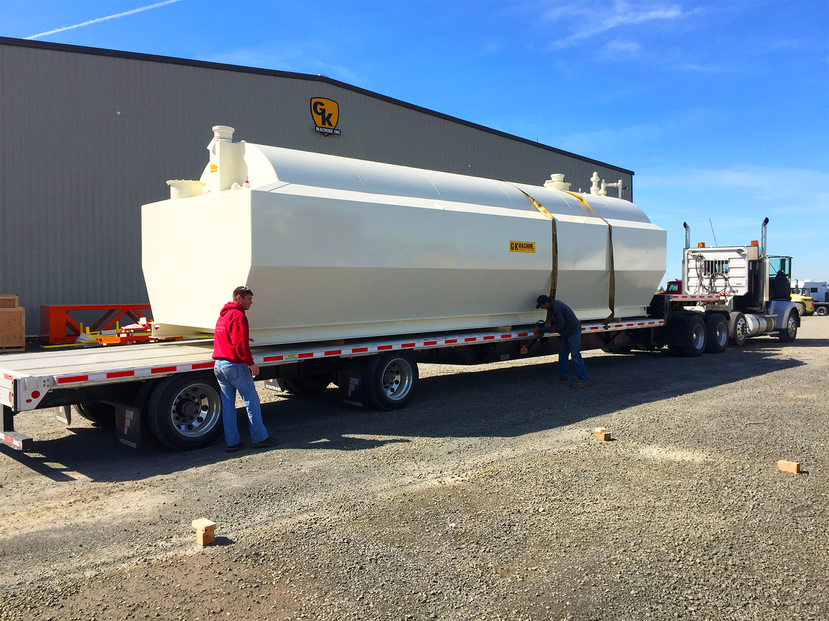 Fabricated Tank Being Shipped