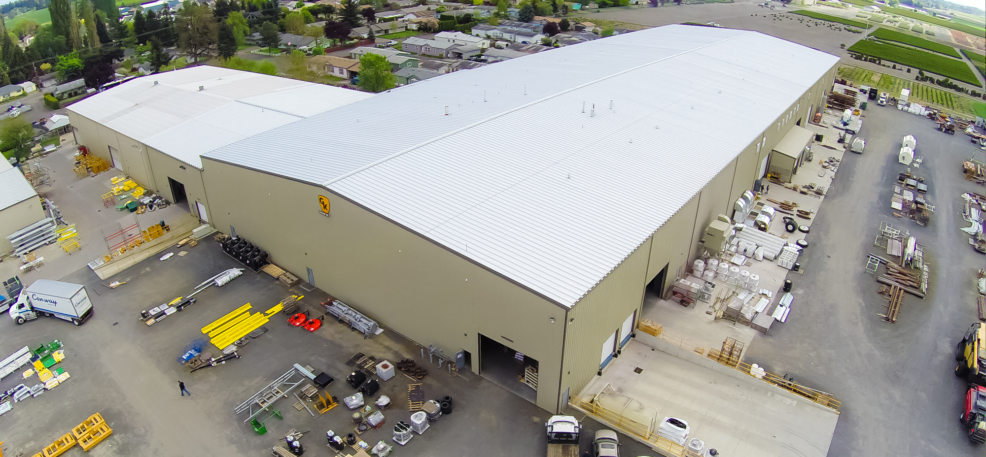 Overhead Shot of GK's Fabrication Building