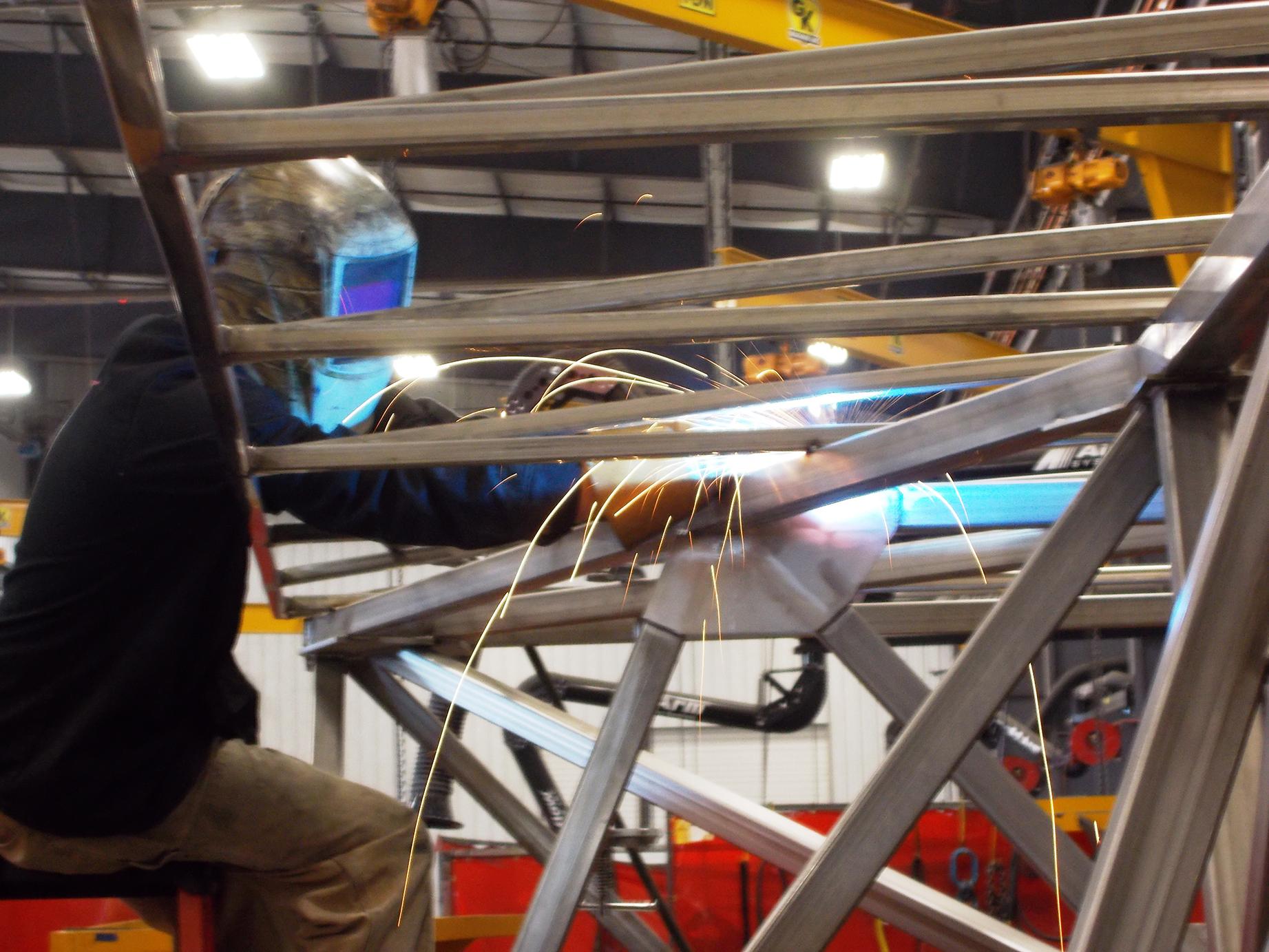 Welder Working on Frame